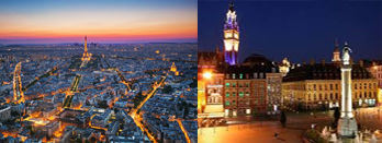 Paris et Lille